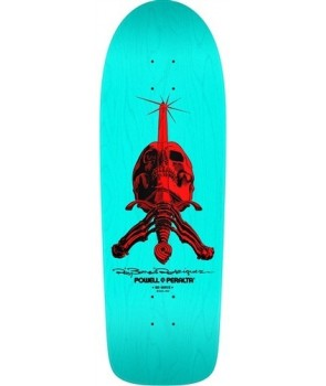 קרש פאוול - Powell Peralta Skull and Sword Lite Blue Reissue Deck